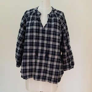 Light airy plaid top
